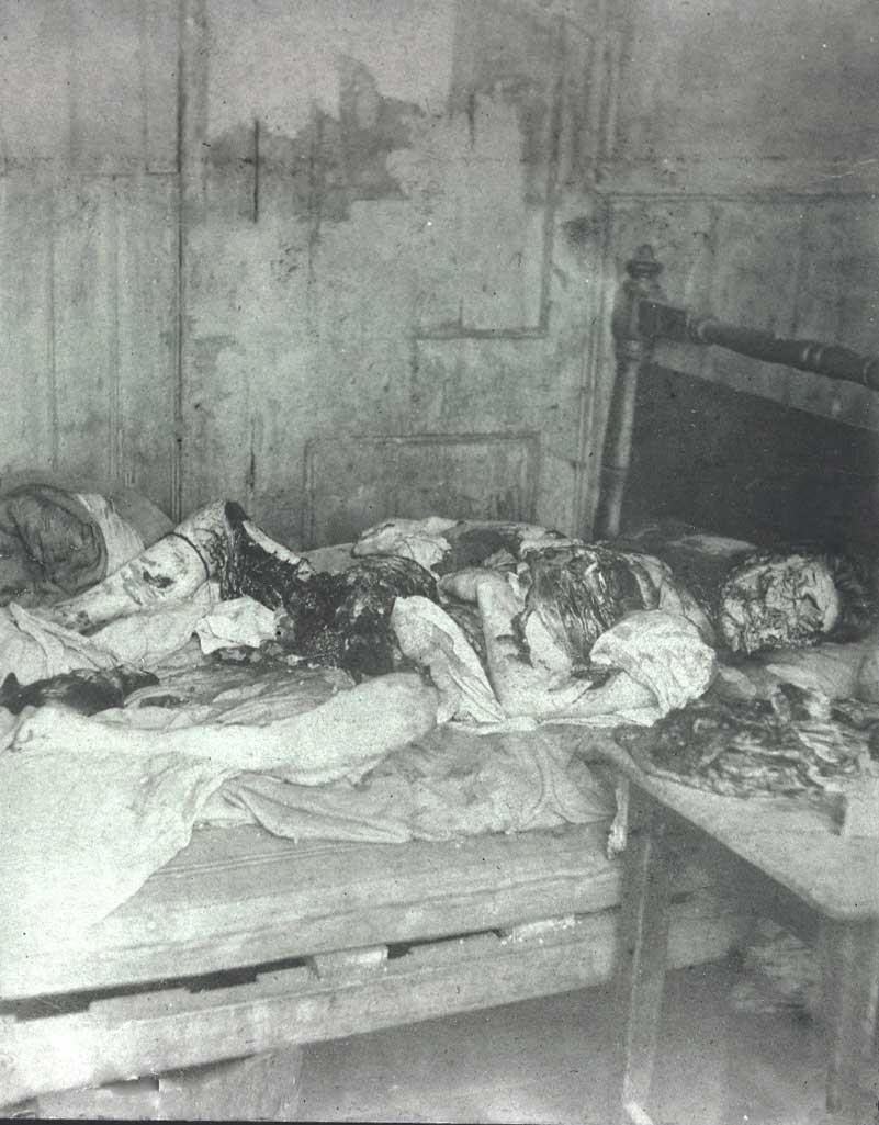 Mary Kelly Crime Scene Photo - Jack the Ripper at RottingInPeace