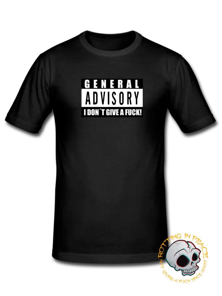 General Advisory T-shirt at RottingInPeace Shop